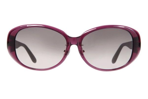 パープル オーバルのサングラス