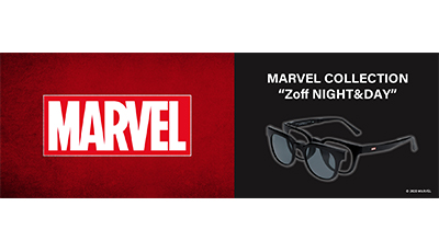 MARVEL COLLECTIONが変身アイウェアになって登場!