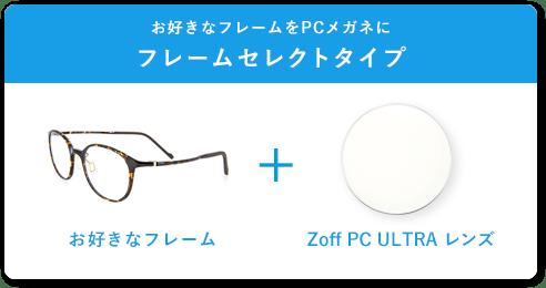 お好きなフレームをPCメガネに フレームセレクトタイプ お好きなフレーム+Zoff PC ULTRA レンズ